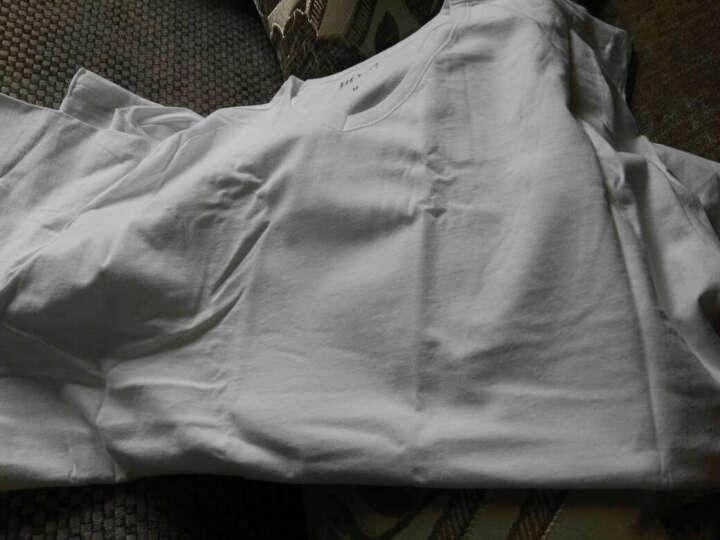 HUGO BOSS 雨果博斯 男款白色棉质V领T恤内衣三件装 50236736 100 M 晒单图