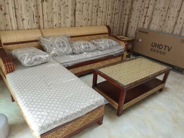 司库诺 藤沙发床 折叠双人沙发床 多功能沙发 实木沙发床 3+贵+茶几 晒单图