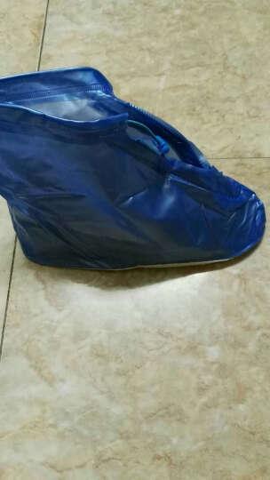 博沃尼克 防雨鞋套男女加厚底雨鞋 防水鞋套便携式防滑耐磨雨靴套成人非一次性透明京东自平底蓝色营42-43 晒单图