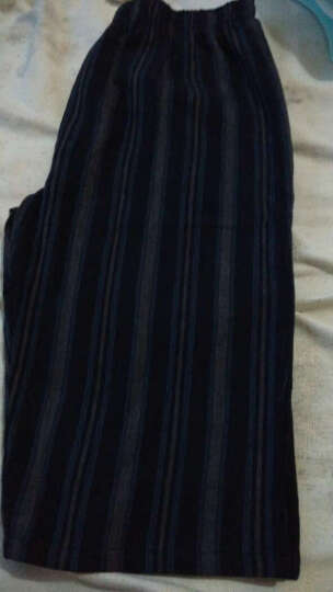纯棉睡裤男家居裤梭织七分裤加长阿罗裤轻薄透气夏季居家睡眠休闲 SS07 170/86(M) 晒单图