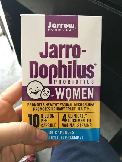 Jarrow杰诺益生菌女性专用阴道益生菌妇科炎症异味泌尿霉菌美国进口 加强版30粒4盒(每粒含100亿活菌) 晒单图