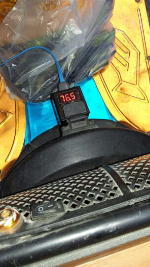 数显电瓶车电压表 48V60V72v手机充电器 电瓶转usb充电器 红色 晒单图