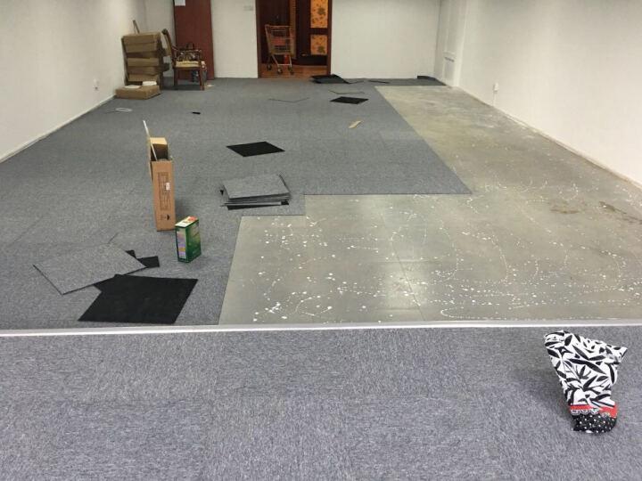 程帝沥青底工程办公室地毯卧室满铺简约现代写字楼防潮隔音台球室阻燃拼接方块地毯50*50cm/单片价 NO.18 50x50cm/片 晒单图