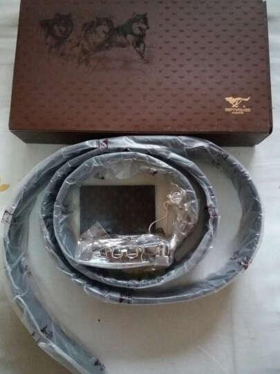 七匹狼(SEPTWOLVES)腰带礼盒 头层牛皮长款男士钱包+商务男士腰带 L9474 黑色 晒单图
