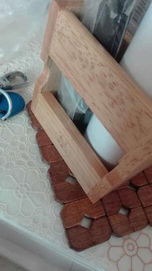 原森太实木桌面遥控器收纳盒木质办公桌面整理储物盒创意化妆品饰品收纳架小号大号 榉木原木色小号收纳盒 晒单图