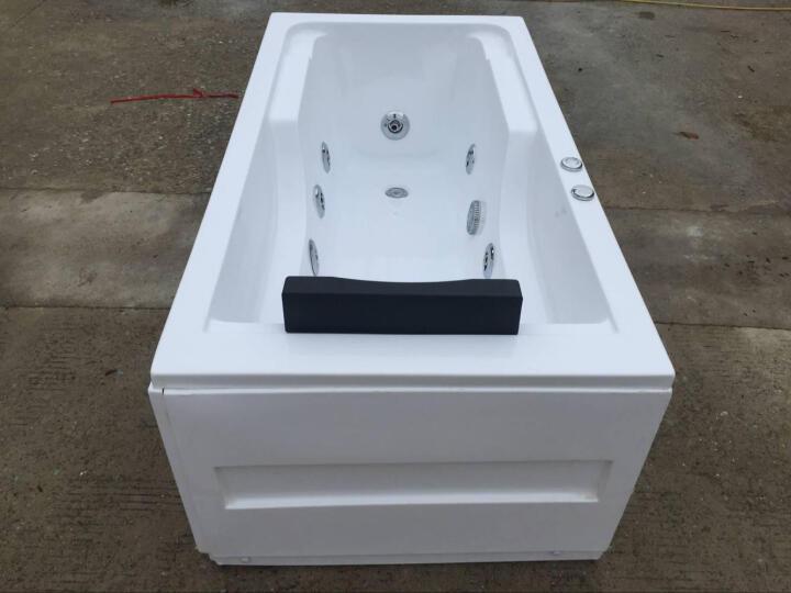 巴斯玛(BATHMALL) 巴斯玛 亚克力浴缸浴盆 家用独立式冲浪按摩浴池普通小浴缸成人 右裙空缸配置 约1.6米 晒单图