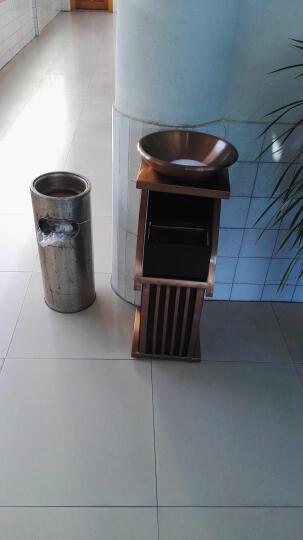 和畅(HC)新概念座地烟灰桶不锈钢KTV大堂欧式时尚宾馆酒店垃圾桶电梯口立式带烟灰缸果皮垃圾箱 不锈钢配玻璃黑白根盆 晒单图