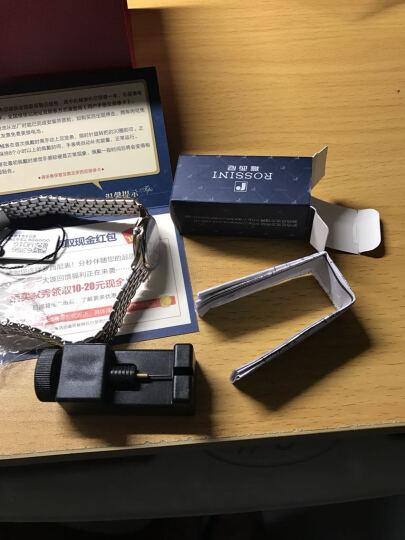 罗西尼(ROSSINI)手表 雅尊商务系列不锈钢石英情侣表钟表女表R6356W01G 晒单图