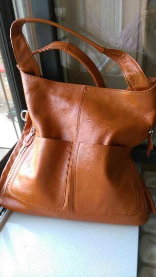 米茜琳(MISS YING)真皮单肩女包 韩版头层牛皮单肩斜挎手提包-8040-棕色 棕色 晒单图