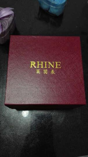莱茵(RHINE)全自动机械表女表 蓝宝石玻璃女款防水机械手表 女  新款时尚女士手表 高贵白盘轻奢金带 晒单图