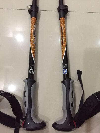 NH挪客外锁登山杖户外碳素轻便折叠碳纤维登山杖手杖四节外锁伸缩 绿色 晒单图