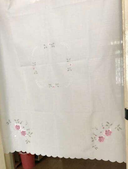 东之晟 卧室门帘半帘客厅卫生间门帘布艺隔断厨房半截门帘刺绣门帘 紫色 送粘钩90x105cm 晒单图