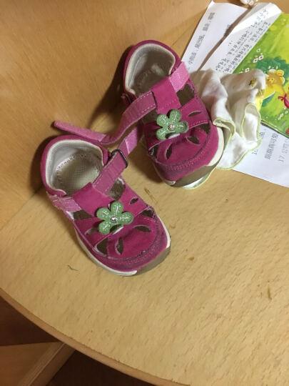 基诺浦夏款女童凉鞋学步鞋婴儿机能鞋女宝宝学步鞋童鞋TXG1316 TXG1317粉红 9码/鞋垫长17cm 晒单图