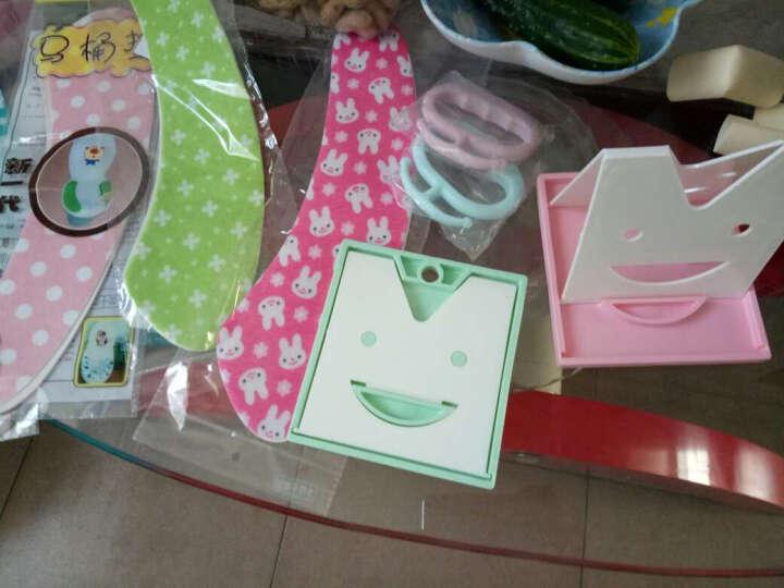 笑脸可折叠锅垫 勺子架 锅盖架 带接水盘沥水置物架厨房用品小工具 绿色 晒单图