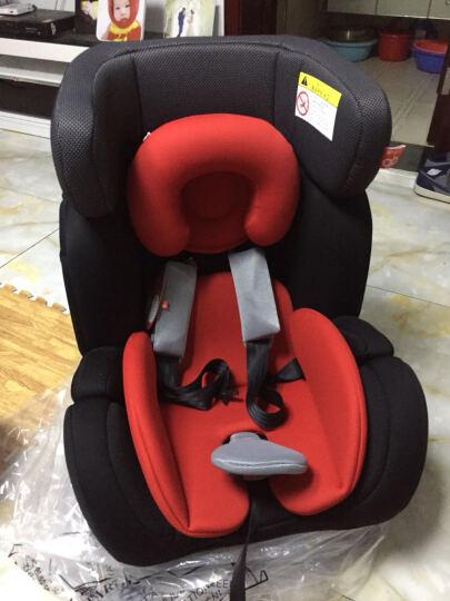 gb好孩子汽车儿童安全座椅 双向安装 CS888-W-D108 红黑色 0-25KG(0-7岁) 晒单图