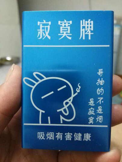 香烟烟盒20支装 寂寞牌男女个性收纳防潮烟盒 自动滑盖金属烟盒 烟具 创意礼品礼物 蓝色 晒单图