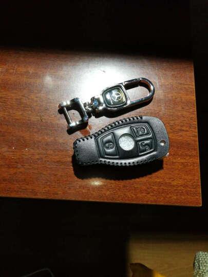 逸卡 奔驰C200L车钥匙包GLC260真皮GLK套C180L钥匙扣C/S级CLA20 黑色三键全包 晒单图