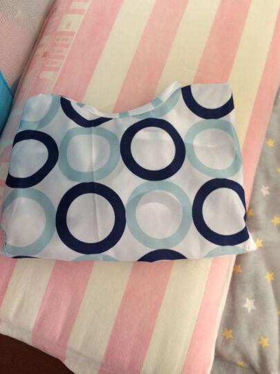 大眼睛比布(BABiBOO)儿童罩衣婴儿吃饭衣宝宝反穿衣画画罩衫长袖围兜围裙 蓝色F 48(00F) 晒单图