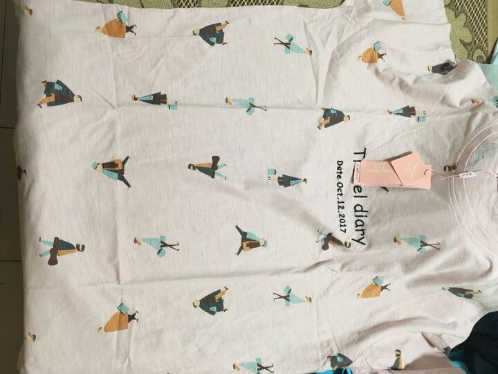 梦米诺秋季长袖女士纯棉睡衣可爱女宽松睡裙韩版长款家居服 6324 女士XL(170/92A) 晒单图