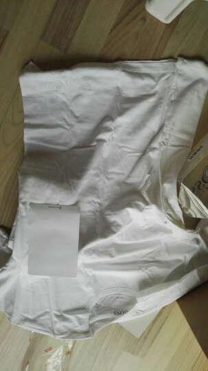 HUGO BOSS 雨果博斯 男士白色棉质圆领短袖T恤三件套 50236735 100 L 晒单图