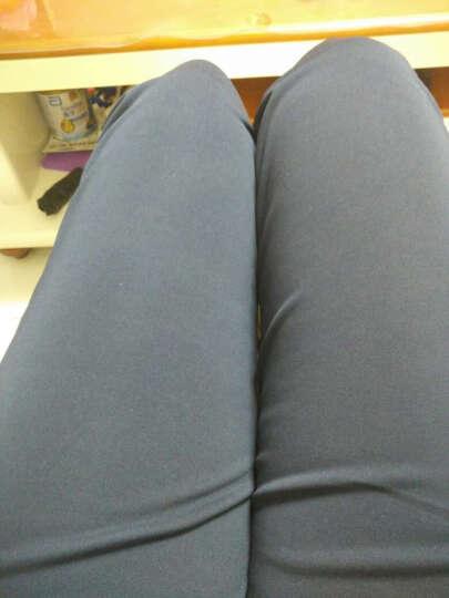 金思秀大码七分裤女夏季薄款外穿七分裤胖MM休闲女裤弹力哈伦裤 黑色 4XL 晒单图