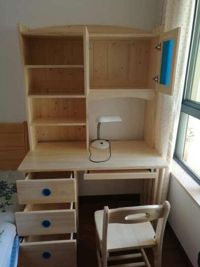 邦利达居电脑桌实木书桌书架组合芬兰松木书柜 1.2米直排芬兰松木书桌+书架+电脑椅 晒单图