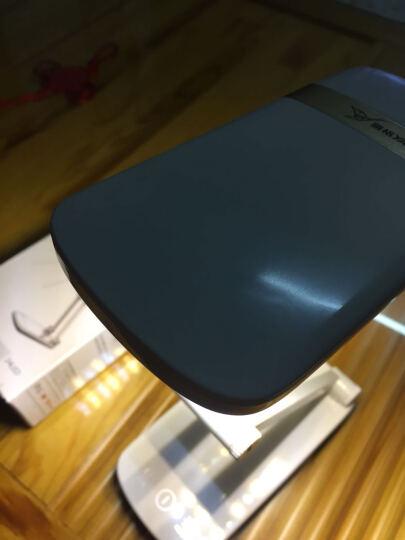 雅格台灯锂电池USB充电式学生护眼灯宿舍折叠式无极调光触摸开关床头卧室台灯照明 面光源YG-5929蓝色 晒单图