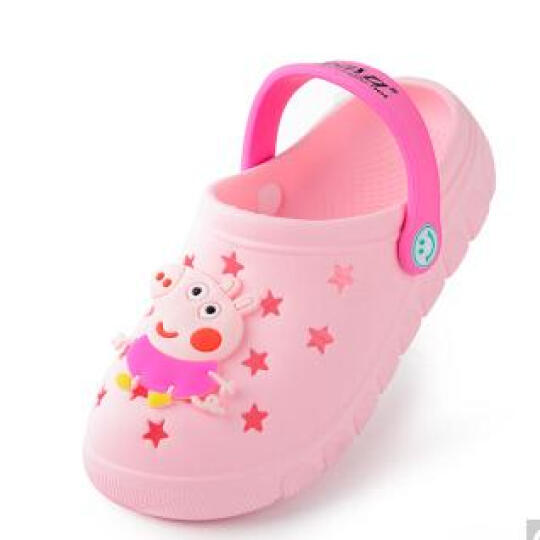 GGGLU儿童拖鞋女童沙滩鞋洞洞鞋浴室拖鞋男童凉拖鞋童款1715宝蓝色150/内长148mm 晒单图