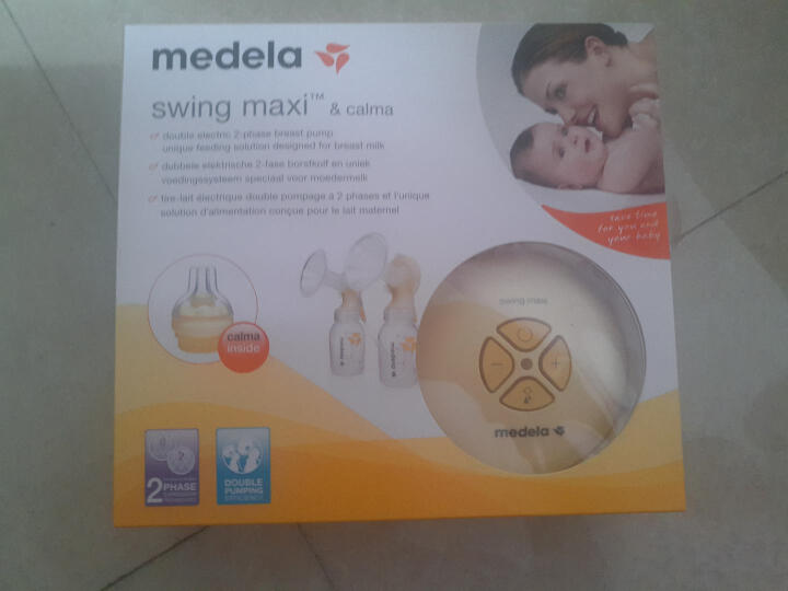 美德乐(Medela) 美德乐电动吸奶器 Medela丝韵翼双边单边 吸奶器 包税包邮 好孩子婴儿卫生湿巾(赠品非卖品) 晒单图