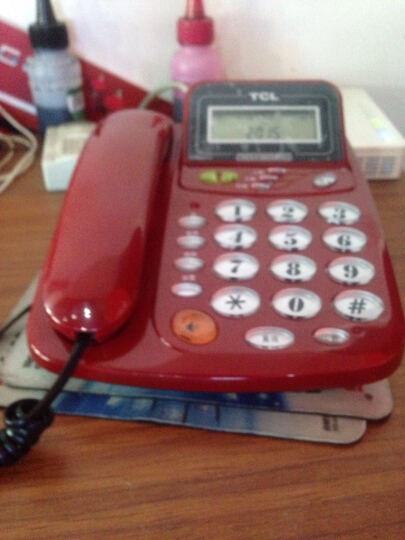 TCL HCD868(17B)TSD固定有绳电话机座机来电显示免电池免提屏幕翻转座式壁挂家用办公有绳固话 火红 晒单图