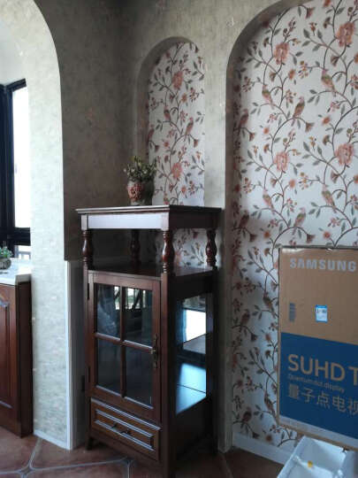 LAGO 床头柜 矮柜实木斗柜边柜收纳储物柜美式乡村卧室家具 床头柜【白蜡木框架】 晒单图