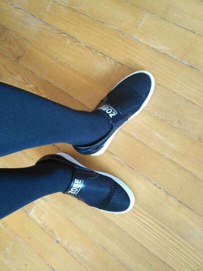 浪莎韩版时尚透气网布学生厚底休闲鞋女运动小白鞋平底单鞋 白色 35 晒单图