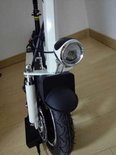 coolpower 电动滑板车可折叠便携代步代驾迷你型成人电动自行车电瓶车 黑色单座椅120公里 晒单图