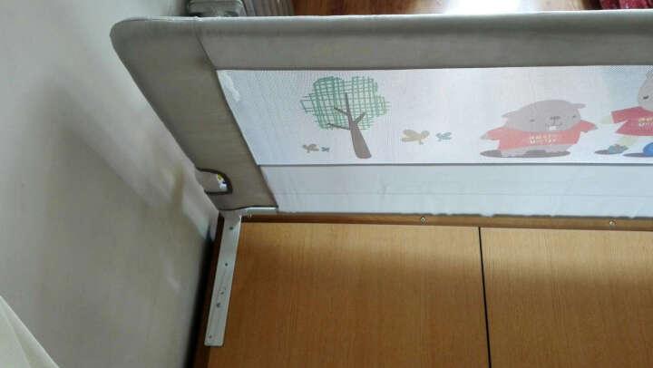 兔贝乐(rabbitbel)宝宝垂直升降防掉床护栏单侧通用创意幼儿落地宿舍学生儿童床围栏挡板床护栏 92cm高垂直升降英伦街 1米8 晒单图