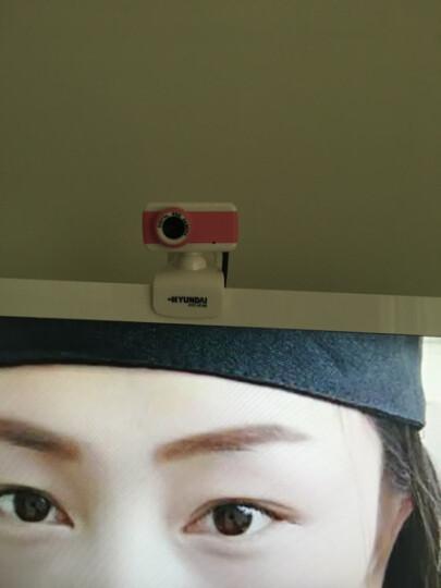 现代(HYUNDAI)摄像头电脑台式机免驱网络高清内置麦克风 HYC-W180 粉白 晒单图