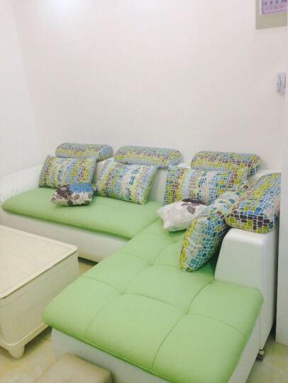 凡特斯蒂真皮沙发 客厅沙发组合 牛皮 储物沙发 简约现代风 双人 单人 贵妃 边几自由组合 枣红色 双+单+左贵(396*178) 晒单图