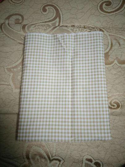 棉布料 斜纹印花床品布料手工面料 可定制床品  粉绿蓝红红黑白格子 单买-咖啡格子一米 晒单图
