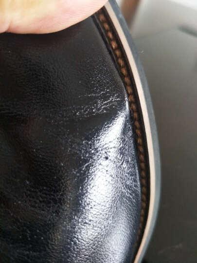 花花公子 新款内增高鞋男士正装系带头层牛皮男鞋耐磨商务休闲皮鞋 F002168319 黑色 37 晒单图