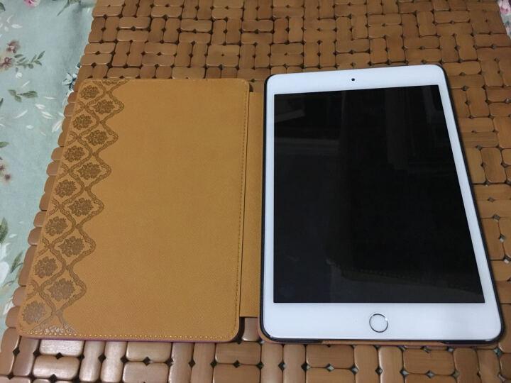 某西叟苹果iPad air2保护套壳 苹果mini2/3/4 Pro9.7迷你仿真皮套休眠 爱之盒皮革紫ipad mini4 晒单图