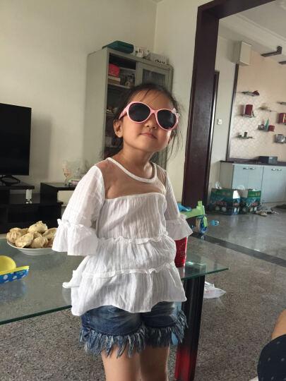 迪士尼(Disney)儿童太阳镜 女童小孩墨镜偏光眼镜 防炫目防紫外线户外太阳镜 粉红色 晒单图