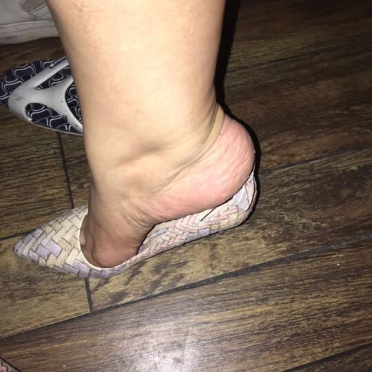 尖头浅口低帮鞋 蝴蝶结装饰高跟鞋 防水台女鞋子 34-40 黑色 40 晒单图