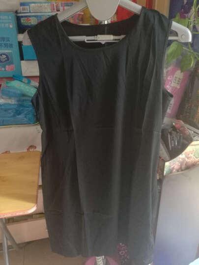 衣典零一 桑蚕丝真丝连衣裙2018夏装新款大码女装夏季修身两件套印花连衣裙套装裙背心裙子 单件披肩(水墨色) XL 晒单图