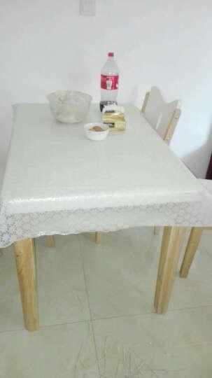 万迈(wanmai)欧式田园桌布防水免洗塑料布艺餐桌布台布防油桌垫茶几垫 010纯白 90*137CM 晒单图
