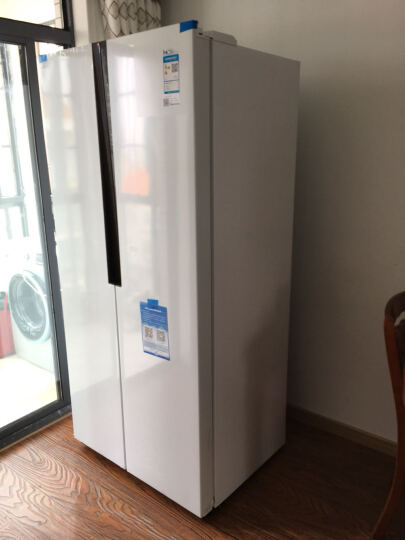 海尔(Haier)452升风冷无霜对开门冰箱 90度开门 66.5cm纤薄机身 低温净味 双温双控BCD-452WDPF 晒单图