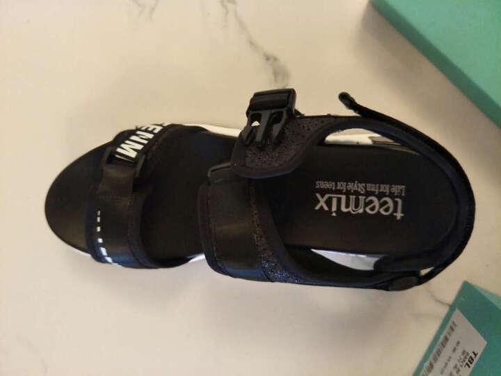 Teenmix/天美意夏专柜同款弹力布运动风厚底女凉鞋6Y401BL7 黑色 37 晒单图