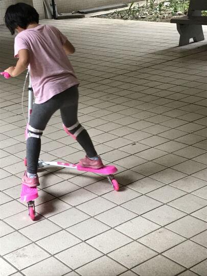 多米儿(duomier) 童滑板车三轮车蛙式滑板车闪光轮可折叠摇摆剪刀扭扭车双后刹 升级款--双刹蓝色 晒单图
