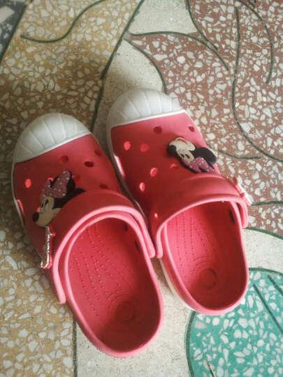 迪士尼 DISNEY 儿童凉鞋 拖鞋 男女童沙滩鞋 洞洞鞋 101红色33 晒单图