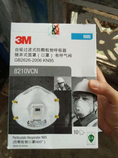 3M 口罩 N95 带呼气阀防颗粒物口罩 10只/盒 8210V 晒单图