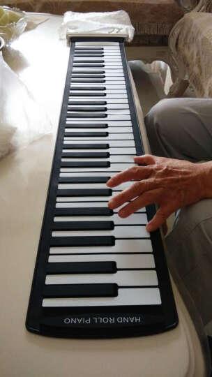 智扣 手卷钢琴便携式折叠琴61键88键 粉色61键 晒单图