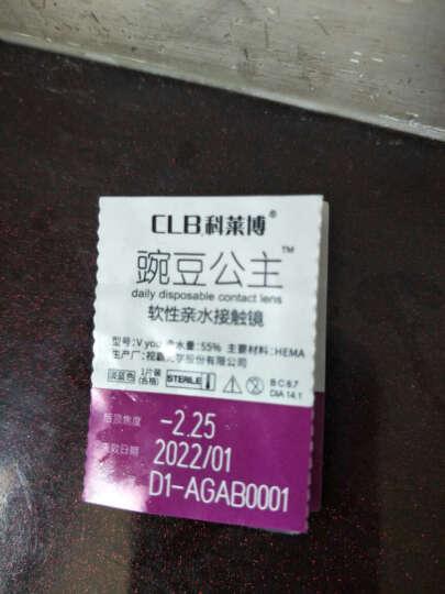 科莱博  豌豆公主抗UV非球面日抛隐形眼镜 30片装 225度 晒单图
